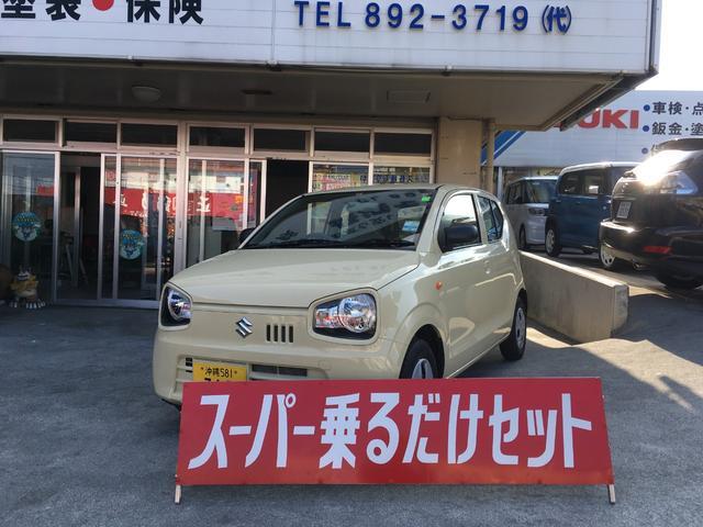 沖縄の中古車 スズキ アルト 車両価格 74万円 リ済込 2018(平成30)年 0.5万km クリーム