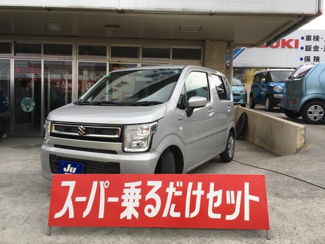 沖縄の中古車 スズキ ワゴンR 車両価格 94万円 リ済込 2018(平成30)年 2.0万km シルバー