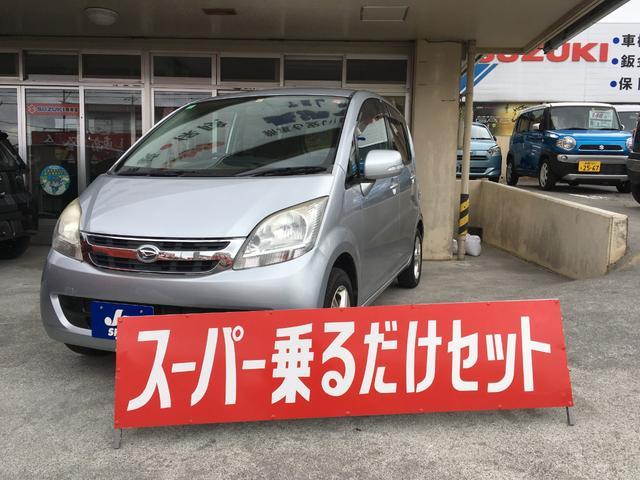 沖縄の中古車 ダイハツ ムーヴ 車両価格 24万円 リ済込 2008(平成20)年 9.0万km シルバー