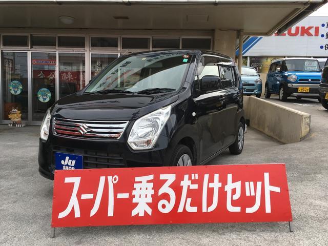 沖縄の中古車 スズキ ワゴンR 車両価格 64万円 リ済込 2013(平成25)年 3.1万km ブラック