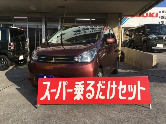 沖縄の中古車 三菱 eKワゴン 車両価格 59万円 リ済込 2013(平成25)年 3.8万km ブラウン