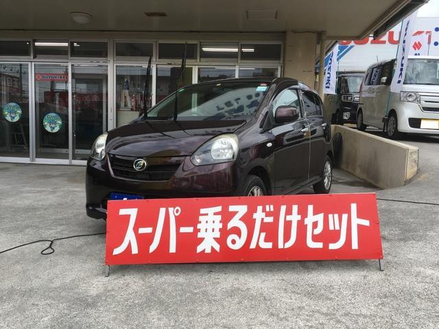沖縄の中古車 ダイハツ ミライース 車両価格 34万円 リ済込 2012(平成24)年 9.5万km ブラウン