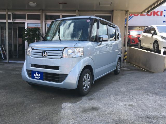 沖縄の中古車 ホンダ N-BOX 車両価格 84万円 リ済込 2012(平成24)年 5.4万km ライトブルー