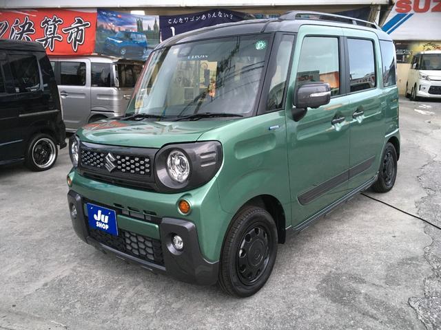 沖縄の中古車 スズキ スペーシアギア 車両価格 173.1万円 リ済込 新車  グリーン