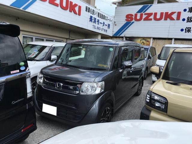 沖縄の中古車 ホンダ N-BOXスラッシュ 車両価格 65万円 リ済込 2015(平成27)年 10.7万km グレー