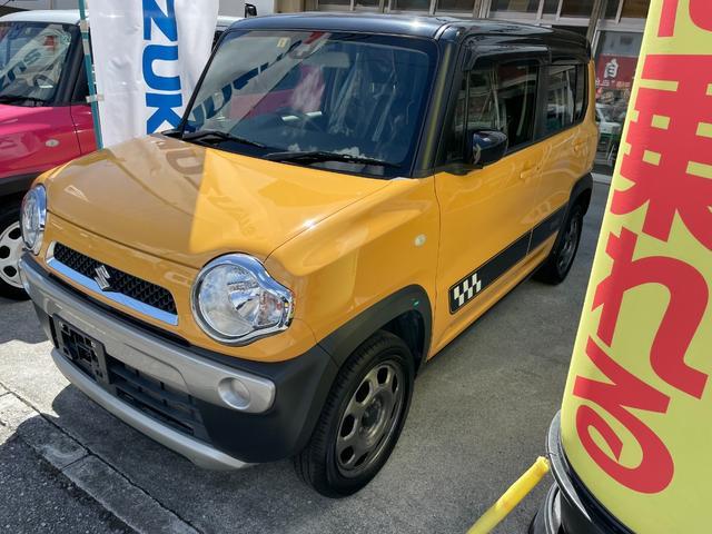 沖縄の中古車 スズキ ハスラー 車両価格 100万円 リ済込 2016(平成28)年 3.8万km イエロー