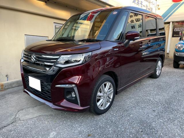 沖縄の中古車 スズキ ソリオ 車両価格 202.2万円 リ済込 新車  ダークレッド