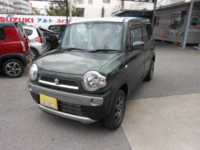 沖縄の中古車 スズキ ハスラー 車両価格 130万円 リ未 新車  DグリーンM