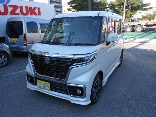 沖縄の中古車 スズキ スペーシアカスタム 車両価格 176万円 リ未 2021(令和3)年 4km パールホワイト