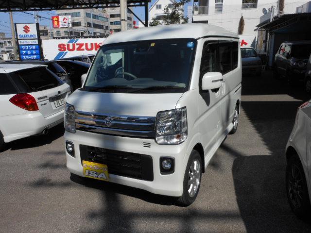 沖縄の中古車 スズキ エブリイワゴン 車両価格 172万円 リ未 新車  パールホワイト