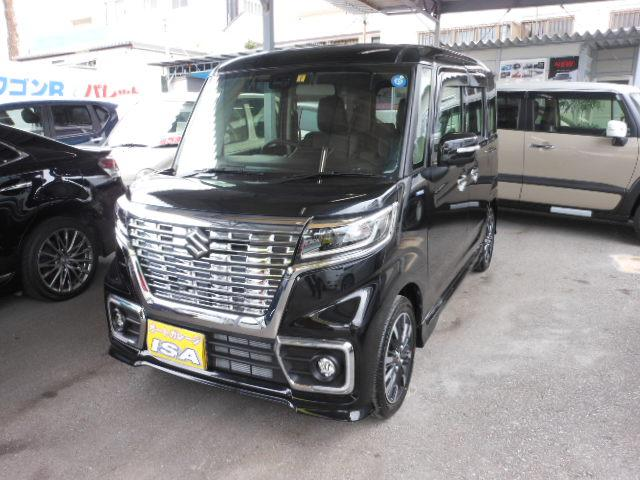 沖縄の中古車 スズキ スペーシアカスタム 車両価格 175万円 リ未 2021(令和3)年 10km ブラックM