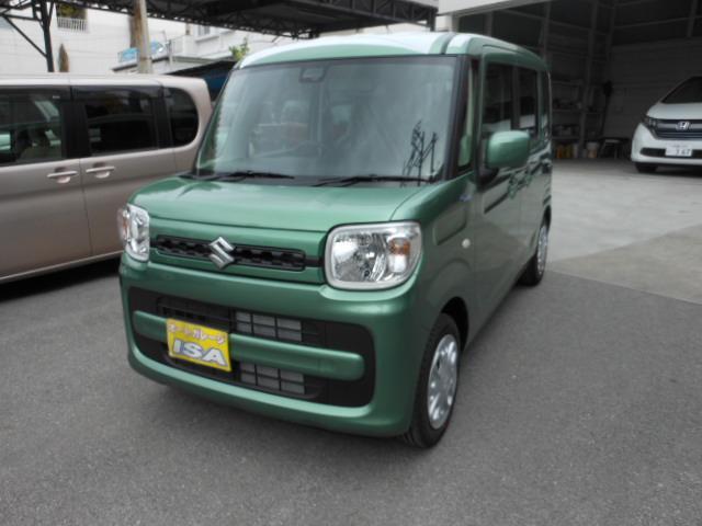 沖縄の中古車 スズキ スペーシア 車両価格 133万円 リ未 2021(令和3)年 3km LグリーンM