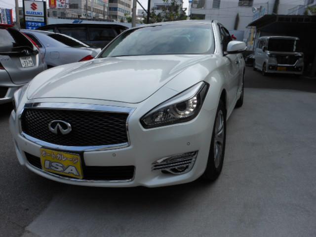 沖縄の中古車 日産 フーガ 車両価格 298万円 リ済込 平成28年 0.1万km パールホワイト