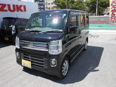 沖縄の中古車 スズキ エブリイワゴン 車両価格 135万円 リ済込 平成27年 2.5万K ブラックM