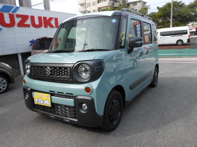 沖縄の中古車 スズキ スペーシアギア 車両価格 173万円 リ未 2021(令和3)年 4km ライトブルーII
