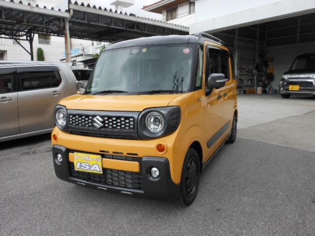 沖縄の中古車 スズキ スペーシアギア 車両価格 165万円 リ未 新車  イエローII