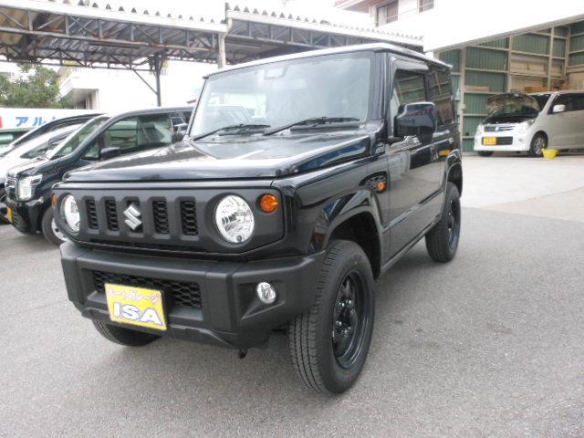 沖縄の中古車 スズキ ジムニー 車両価格 170万円 リ未 2021(令和3)年 4km ブラックM