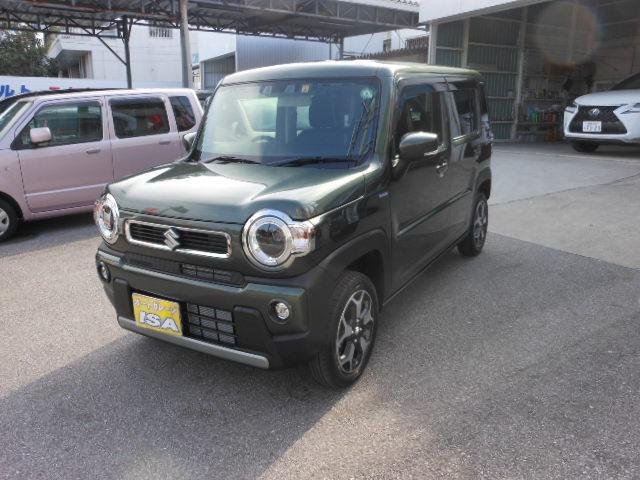 沖縄の中古車 スズキ ハスラー 車両価格 151万円 リ未 2021(令和3)年 9km LグリーンM