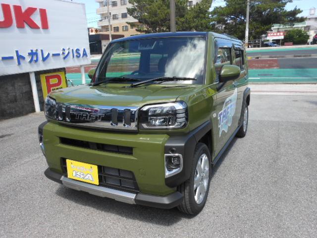 沖縄の中古車 ダイハツ タフト 車両価格 160万円 リ未 2021(令和3)年 6km グリーンM