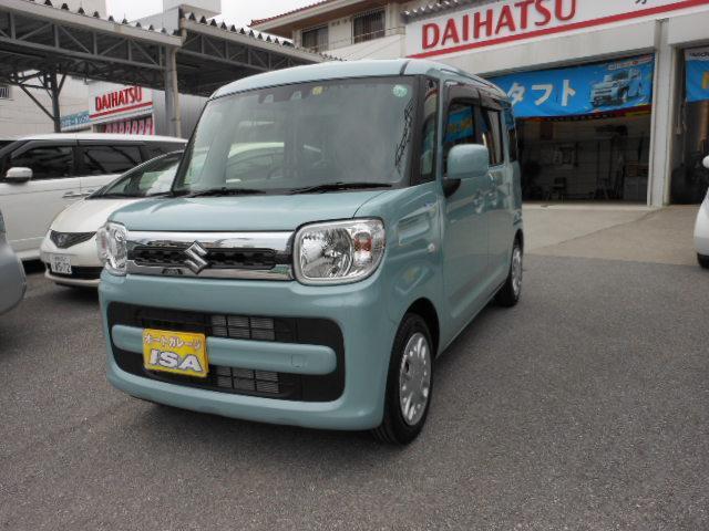 沖縄の中古車 スズキ スペーシア 車両価格 150万円 リ未 2021(令和3)年 12km ライトブルーM