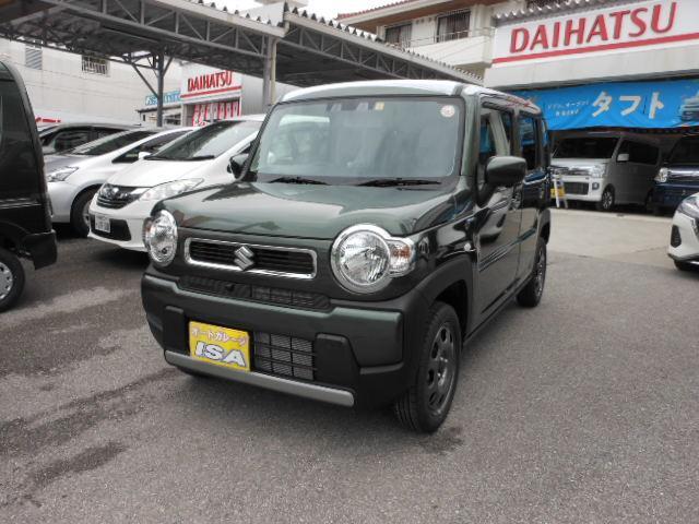 沖縄の中古車 スズキ ハスラー 車両価格 136万円 リ未 2021(令和3)年 4km LグリーンM