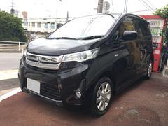 沖縄の中古車 三菱 eKカスタム 車両価格 59万円 リ済込 平成26年 9.2万K ブラック
