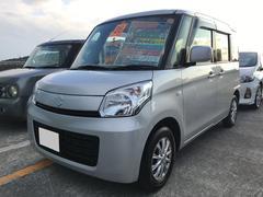 沖縄の中古車 スズキ スペーシア 車両価格 64万円 リ済込 平成26年 8.7万K シルバー