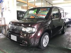 沖縄の中古車 日産 キューブ 車両価格 45万円 リ済込 平成24年 9.8万K ブラウン