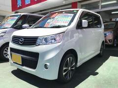 沖縄の中古車 マツダ フレアカスタムスタイル 車両価格 64万円 リ済込 平成25年 9.1万K パールホワイト