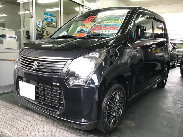 沖縄の中古車 スズキ ワゴンR 車両価格 64万円 リ済込 平成25年 9.1万km ブルーイッシュブラックパール3