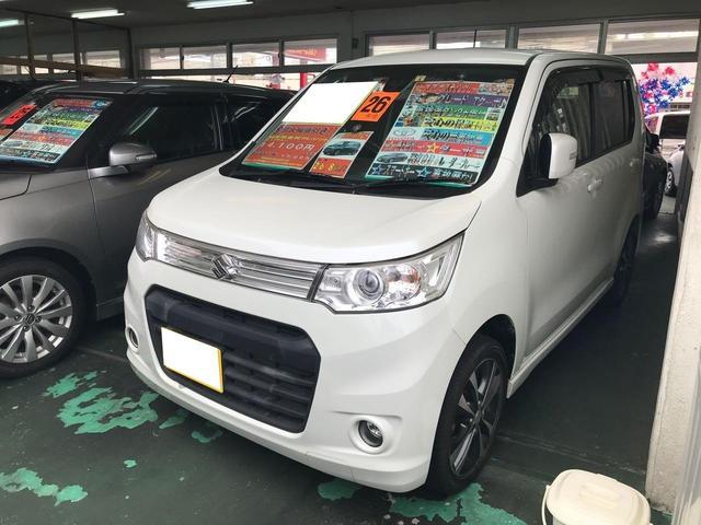 沖縄の中古車 スズキ ワゴンRスティングレー 車両価格 64万円 リ済込 平成26年 7.6万km パール