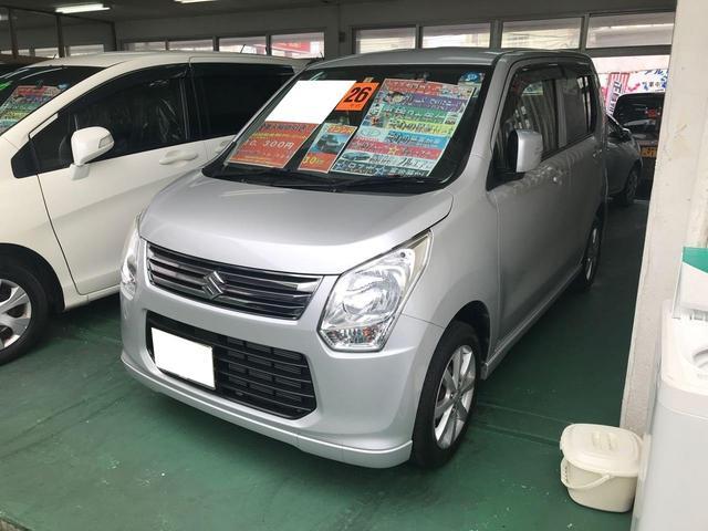 沖縄の中古車 スズキ ワゴンR 車両価格 49万円 リ済込 2014(平成26)年 8.1万km シルバー