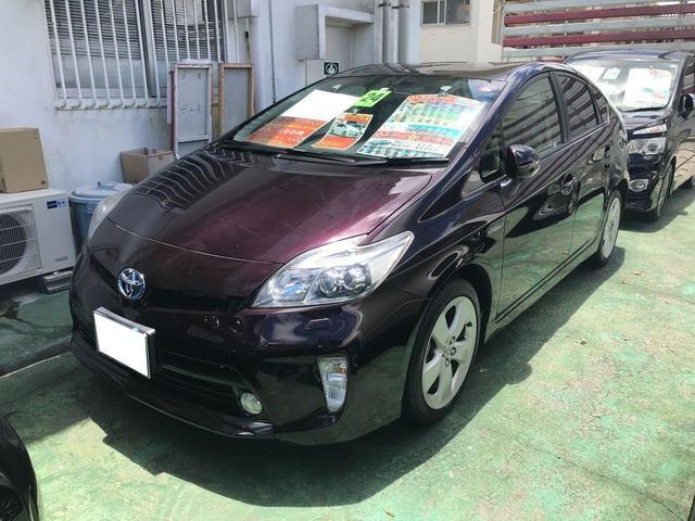 沖縄の中古車 トヨタ プリウス 車両価格 85万円 リ済込 2012(平成24)年 9.9万km ダークパープル