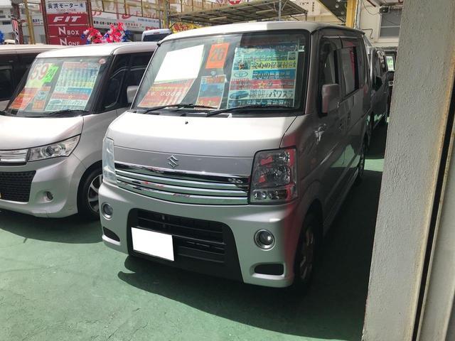 沖縄県の中古車ならエブリイワゴン PZターボ パワースライドドア TV ナビ 純正フルエアロ