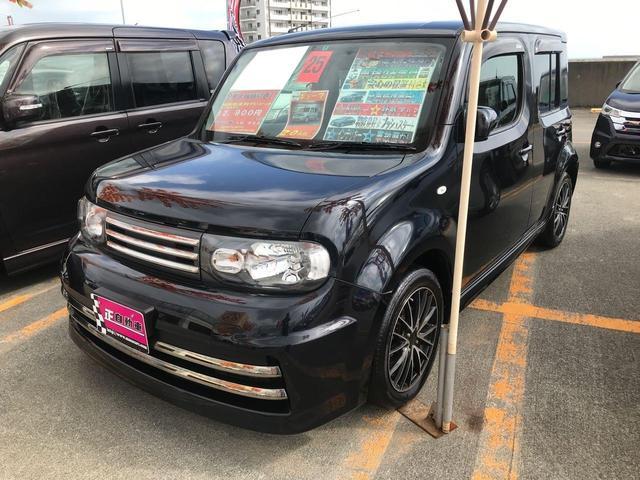 沖縄県の中古車ならキューブ ライダー ブラックライン プッシュスタート インテリキー