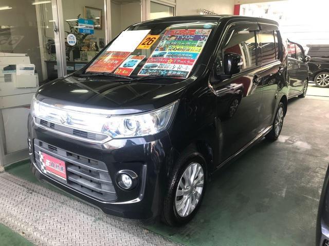 沖縄県の中古車ならワゴンRスティングレー X HID ベンチシート シートヒーター 純正フルエアロ