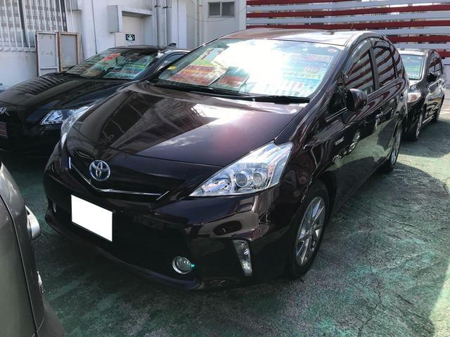 沖縄県の中古車ならプリウスアルファ S チューン ブラック TV ナビ プッシュスタート