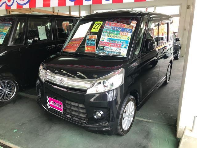 沖縄県宜野湾市の中古車ならスペーシアカスタム XS パワースライドドア 純正フルエアロ 社外メモリーナビ