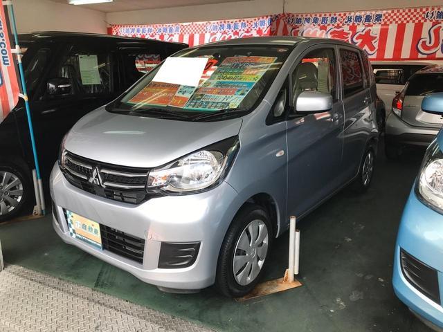 沖縄の中古車 三菱 eKワゴン 車両価格 69万円 リ済込 2018(平成30)年 2.8万km シルバー