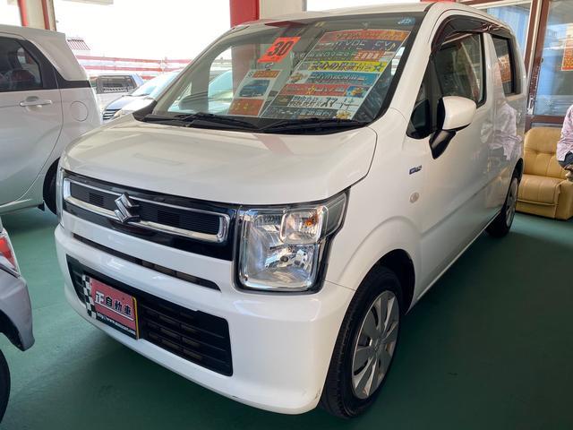 沖縄の中古車 スズキ ワゴンR 車両価格 69万円 リ済込 2018(平成30)年 7.3万km ホワイト