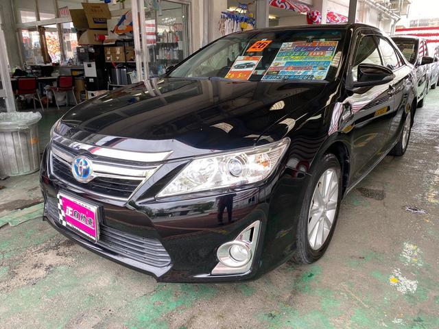 沖縄県宜野湾市の中古車ならカムリ ハイブリッド Gパッケージ 純正ナビ フルセグTV ETC
