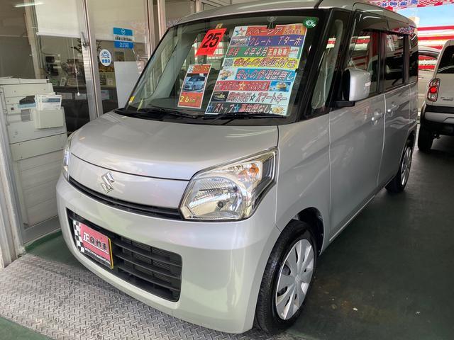 沖縄県の中古車ならスペーシア T ターボ プッシュスタート パワースライドドア CD