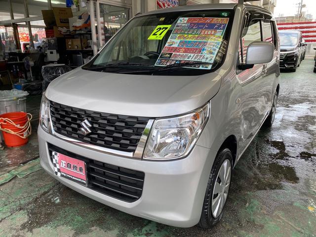 沖縄の中古車 スズキ ワゴンR 車両価格 49万円 リ済込 2015(平成27)年 9.0万km シルバー