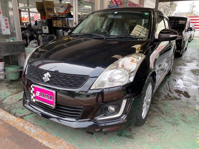 沖縄県の中古車ならスイフト RS フルセグTV ナビ プッシュスタート スマートキー クルーズコントロール シートリフター 純正フルエアロ 純正アルミ ウインカーミラー フォグランプ ワンオーナー