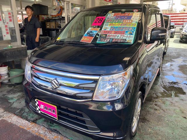 沖縄の中古車 スズキ ワゴンR 車両価格 64万円 リ済込 2016(平成28)年 7.2万km ブラック