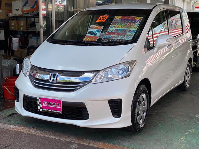 沖縄の中古車 ホンダ フリード 車両価格 75万円 リ済込 2014(平成26)年 8.9万km パールホワイト