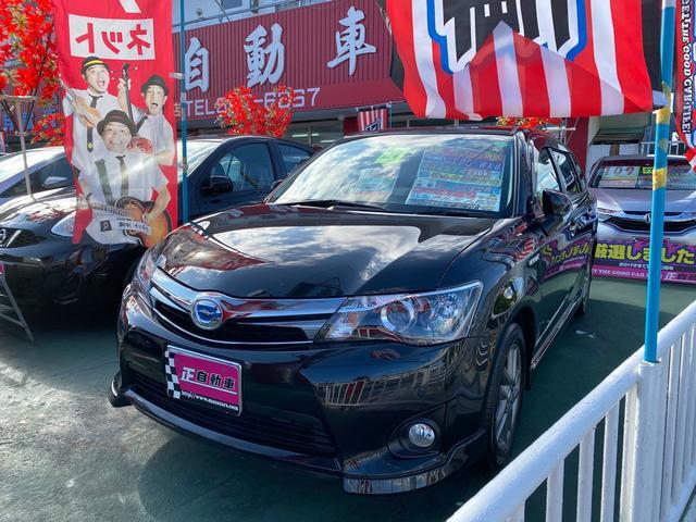 沖縄の中古車 トヨタ カローラフィールダー 車両価格 79万円 リ済込 2015(平成27)年 9.3万km ブラック