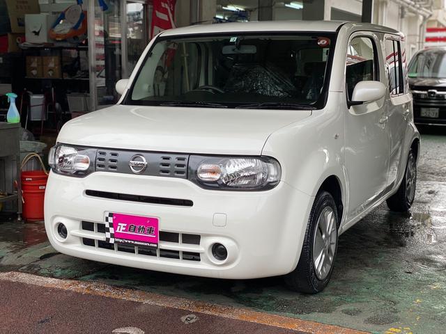 沖縄の中古車 日産 キューブ 車両価格 79万円 リ済込 2018(平成30)年 5.4万km パールホワイト