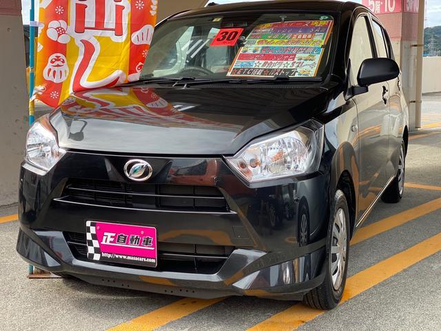 沖縄の中古車 ダイハツ ミライース 車両価格 74万円 リ済込 2018(平成30)年 3.4万km ブラック