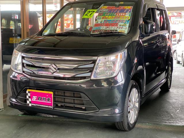 沖縄の中古車 スズキ ワゴンR 車両価格 54万円 リ済込 2015(平成27)年 9.0万km ブラック